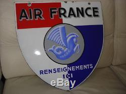 Plaque émaillée De La Compagnie Air France EAS Année 1948
