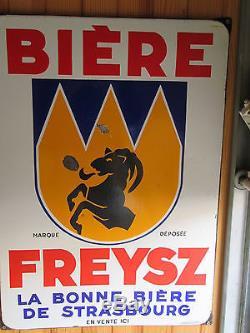 Plaque émaillée FREYS bière d'ALSACE
