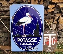 Plaque Émaillée GÉANTE Potasse D'Alsace EAS 96 X 67 cm STRASBOURG