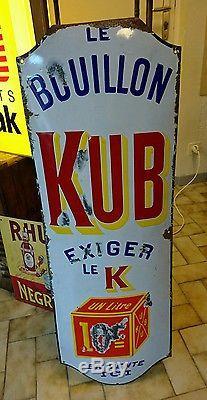 Plaque émaillée KUB exiger le K plié