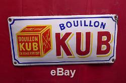 Plaque émaillée KUB petit format, no Maggi Liebig Poule au pot Viandox Lustucru