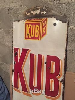 Plaque Émaillée Kub Ancienne Japy Frères