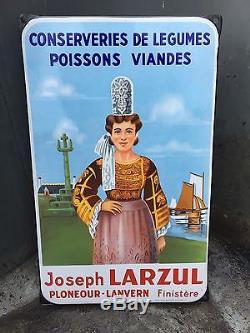 Plaque émaillée LARZUL