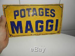 Plaque Émaillée MAGGI POTAGES en vente ici Ancienne Rare émaille H. MOREAU PARIS