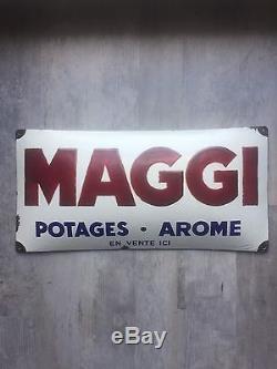Plaque Émaillée Maggi Rare Etat Ras