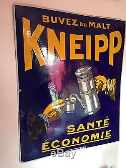 Plaque Émaillée Malt Kneipp Rarissime Grand Modèle