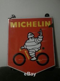 Plaque émaillée Michelin pneu cyclo