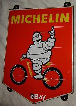 Plaque émaillée Michelin vélo EAS