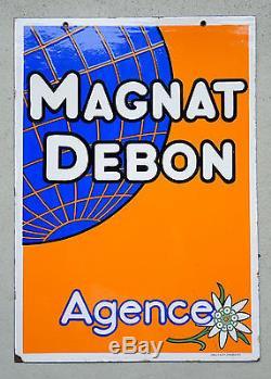 Plaque émaillée Motos MAGNAT DEBON