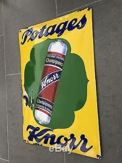 Plaque émaillée Potages Knorr