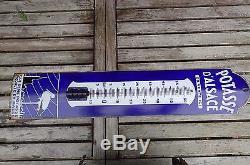 Plaque Émaillée Publicitaire Thermomètre Potasse D'alsace