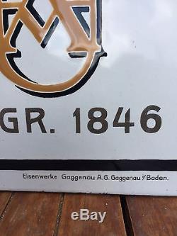 Plaque émaillée Rare H Underberg Albrecht 1911 Rheinland Rheinberg 1846 Deutch