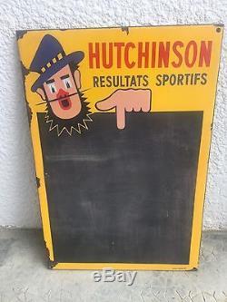 Plaque Émaillée Rare Hutchinson Tableau Sportifs