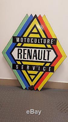 Plaque émaillée Renault Motoculture Service ancienne