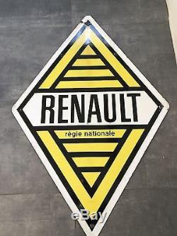 Plaque émaillée Renault Régie Nationale