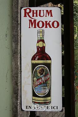 Plaque émaillée Rhum Moko