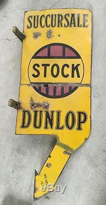 Plaque émaillée Succursale Dunlop Stock