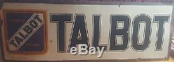 Plaque émaillée TALBOT avant guerre