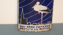 Plaque émaillée Themomètre Potasse d'Alsace