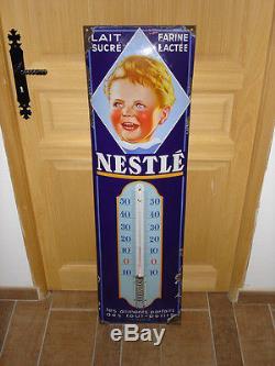 Plaque émaillée Thermomètre émaillé Bébé Neslté AUCUNE RESTAURATION