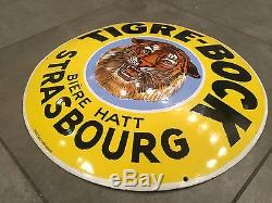 Plaque émaillée Tigre-Bock Strasbourg