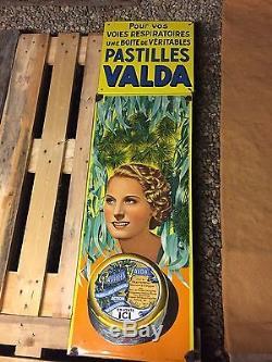 Plaque Émaillée Valda Michel Morgan 1930 Rare