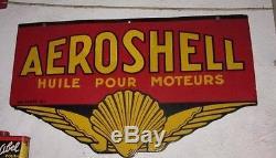 Plaque émaillée ancienne AEROSHELL