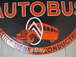 Plaque émaillée ancienne Citroën les rapides de la Meuse (Bar le Duc) no affiche