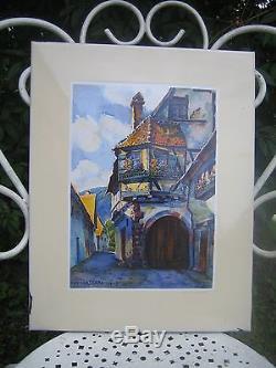 Plaque émaillée ancienne. Hansi, Kaysersberg. Alsace