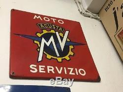 Plaque émaillée ancienne MVAgusta