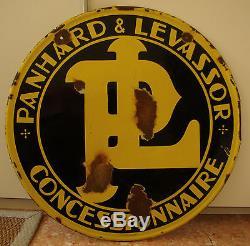 Plaque émaillée ancienne Panhard et Levassor Concessionnaire
