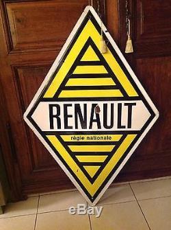 Plaque émaillée ancienne Renault