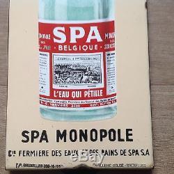 Plaque émaillée ancienne Spa Monopole