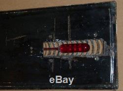 Plaque émaillée ancienne thermomètre CASTROL