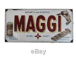 Plaque émaillée bombée MAGGI