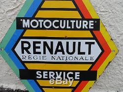 Plaque émaillée (double faces!) RENAULT SERVICE