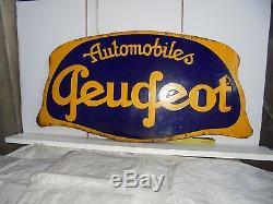 Plaque émaillée enseigne PEUGEOT 1930