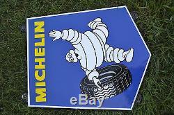 Plaque émaillée publicitaire Michelin excellent état
