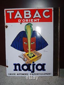 Plaque émaillée tabac Naja/Celtiques
