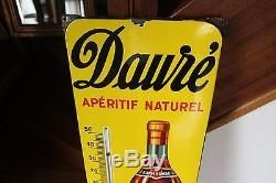 Plaque émaillée thérmométre publicitaire ancien apéritif Dauré