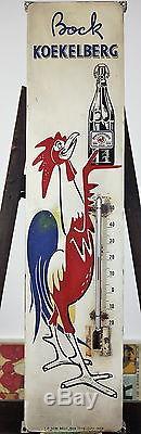 Plaque émaillée thermomètre Brasserie Bière Bock Koekelberg 1959