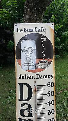 Plaque émaillée thermomètre Le Bon Cafe Julien Damoy