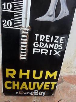 Plaque émaillée thermomètre RHUM CHAUVET