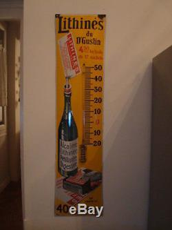 Plaque émaillée thermometre LITHINES