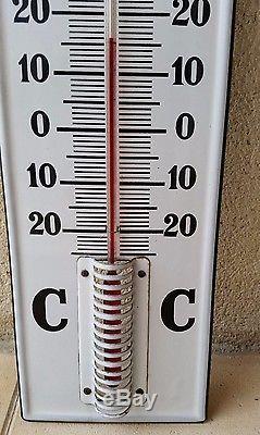 Plaque émaillée tres beau thermometre castrol automobilia