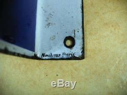 Plaque métal émaillée kervoline format 60 x 39 double face émaillerie Neuhauss