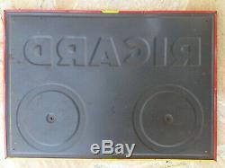 Plaque publicitaire en tôle RICARD Compteur de Pétanque 32x45cm Années 50/60