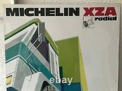 Plaque publicitaire en tôle non émaillée Michelin 60 x 80 cm