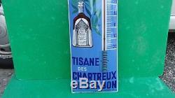Plaque, thermomètre émaillée TISANE-SANTE, etat exceptionnel! A VOIR
