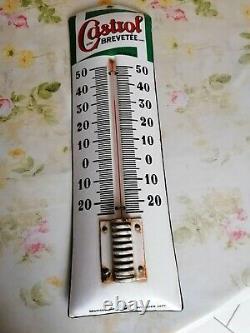 Plaque thermomètre émaillée castrol
